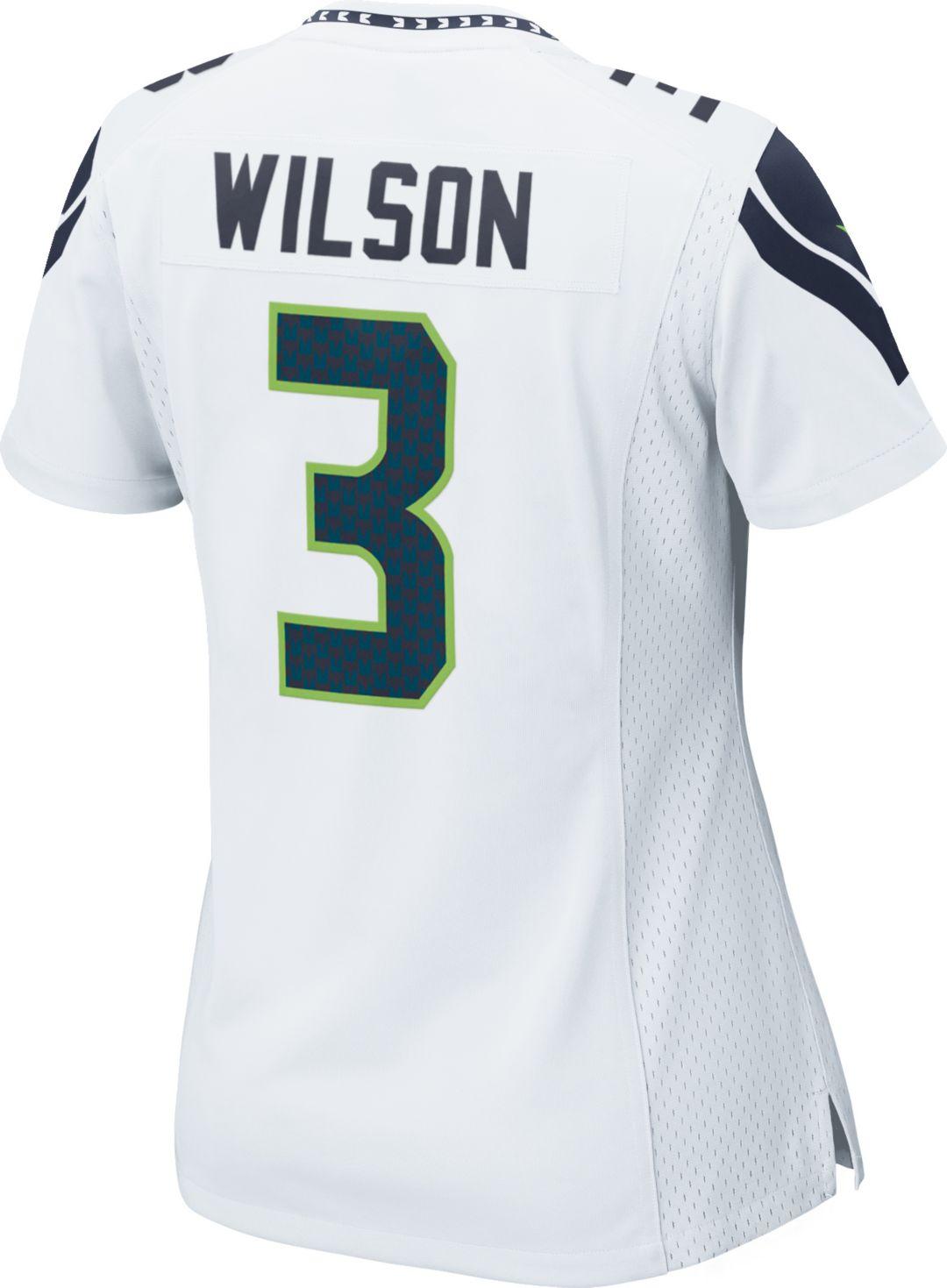 e5201c1e2d1 Nike Women's Away Game Jersey Seattle Seahawks Russell Wilson #3 ...