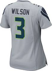 Nike Women's Seattle Seahawks Russell Wilson #3 Grey Game Jersey product image