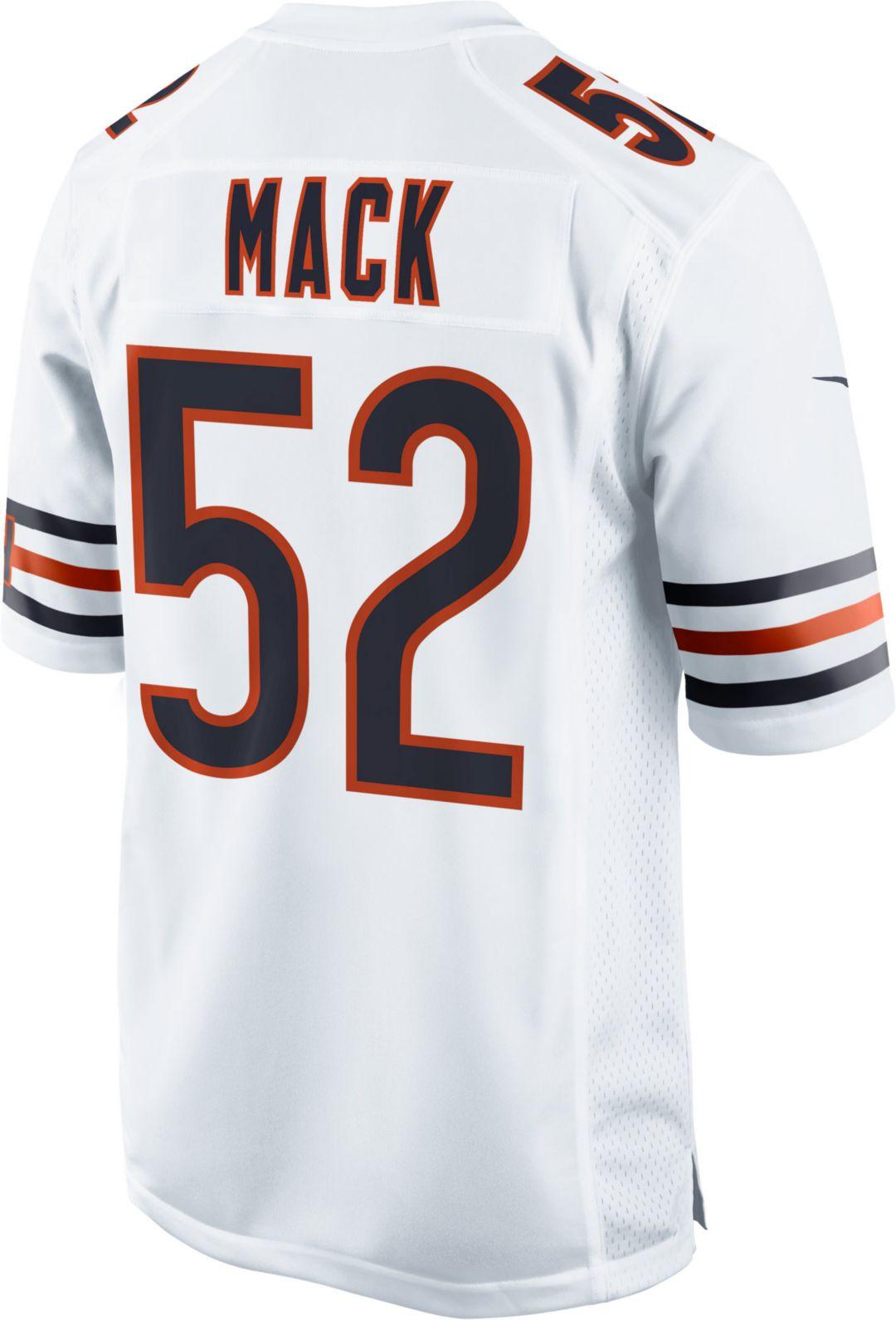 reputable site 9aed1 b3982 Nike Men's Away Game Jersey Chicago Bears Khalil Mack #52