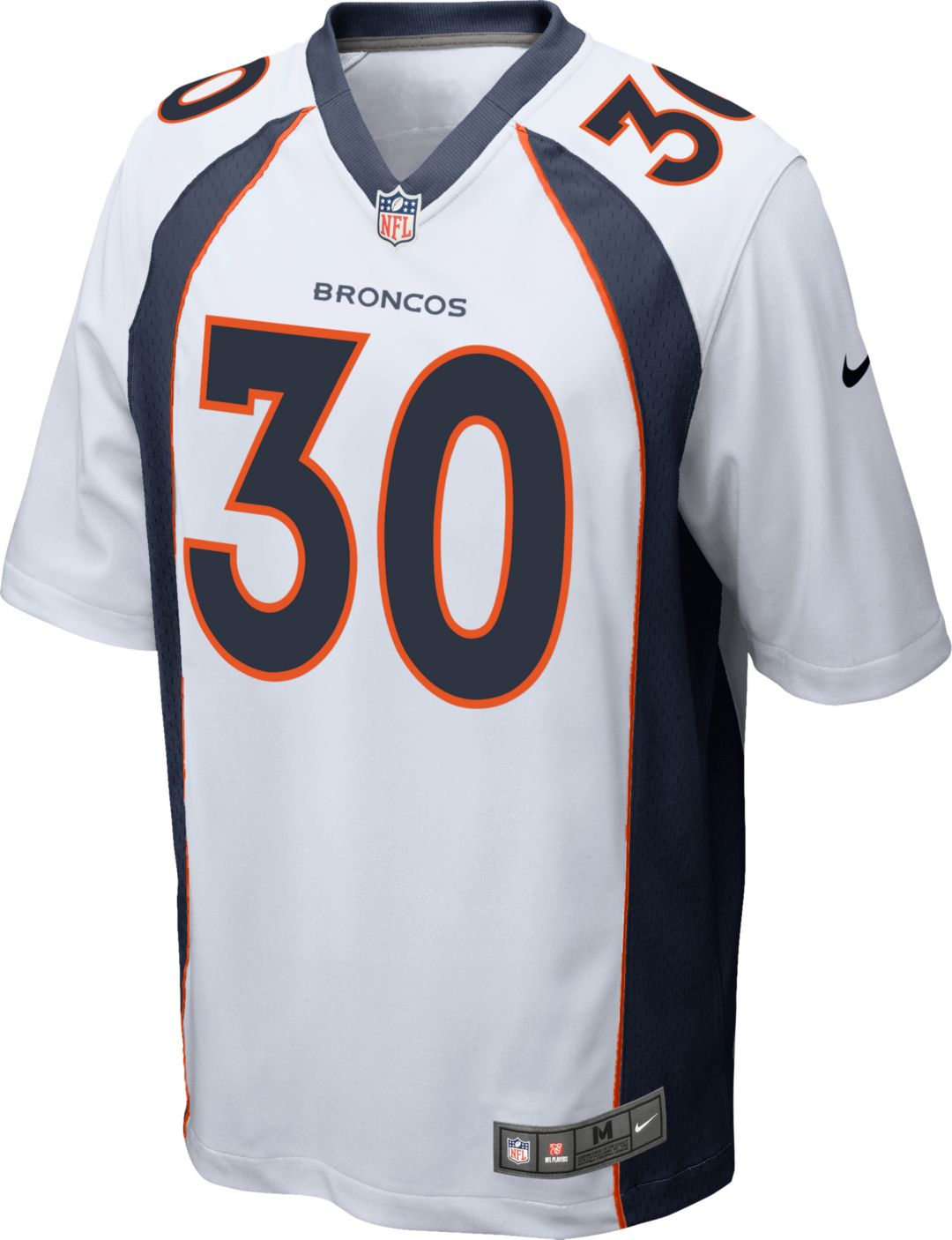 newest collection 8c203 5c3f1 Nike Men's Away Game Jersey Denver Broncos Phillip Lindsay #30