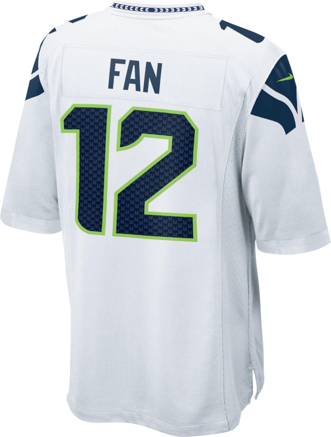 best loved d4d4b 20c4b Nike Men's Seattle Seahawks Fan #12 Away Game Jersey