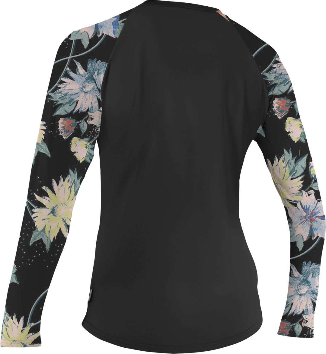 ce3d6d2325 O'Neill Women's Sleeve Print Long Sleeve Rash Guard