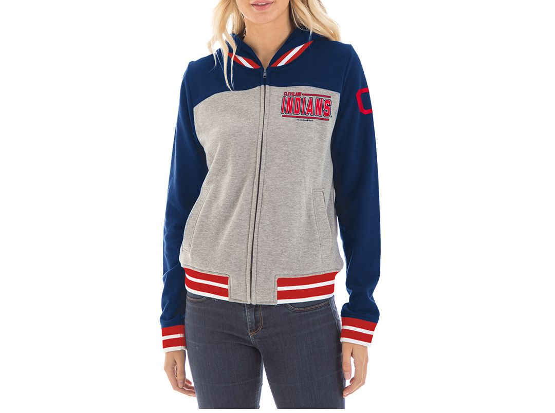 sneakers for cheap c1221 4ae7b New Era Women's Cleveland Indians Full-Zip Hoodie