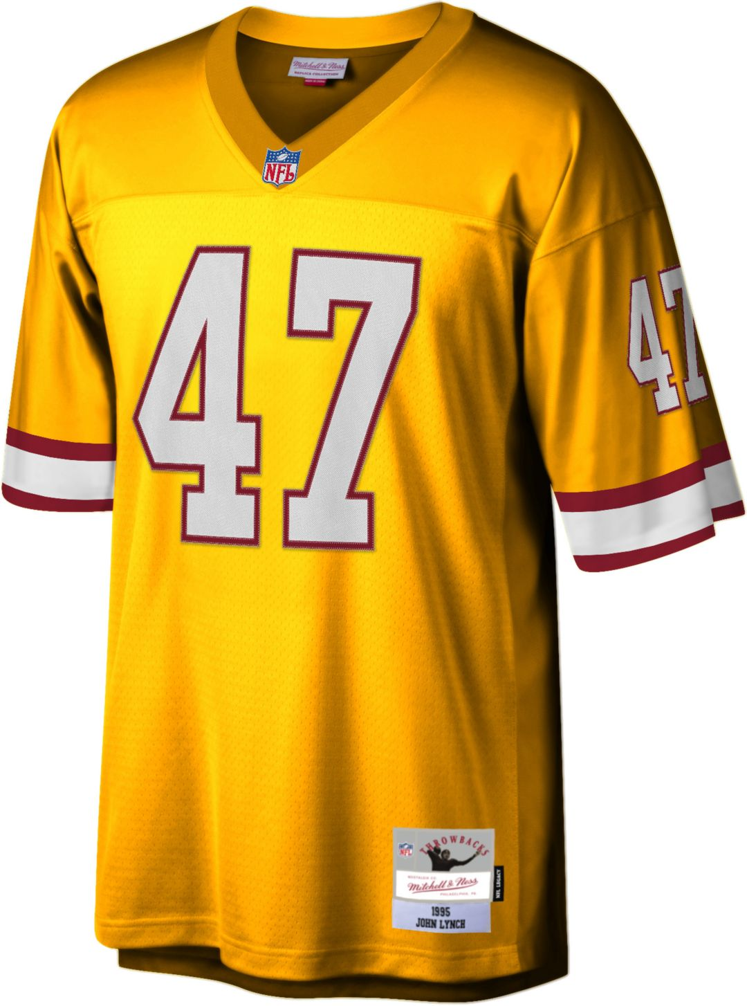san francisco f2257 2a375 Mitchell & Ness Men's 1995 Game Jersey Tampa Bay Buccaneers John Lynch #47