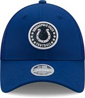 New Era Women's Indianapolis Colts Blue Sparkle Adjustable Trucker Hat product image