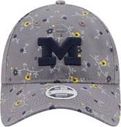 New Era Women's Michigan Wolverines Grey Blossom Adjustable Hat product image