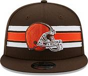 New Era Men's Cleveland Browns Brown 9Fifty Strike Adjustable Hat product image