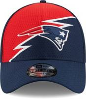 New Era Men's New England Patriots Navy 39Thirty Bolt Fitted Hat product image