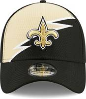 New Era Men's New Orleans Saints Black 39Thirty Bolt Fitted Hat product image