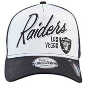 New Era Men's Las Vegas Raiders Script 9Forty Adjustable Trucker Black Hat product image