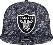 New Era Men's Las Vegas Raiders All-Over Print 9Fifty Adjustable Black Hat product image