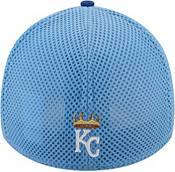 New Era Men's Kansas City Royals Blue 39Thirty Heathered Stretch Fit Hat product image