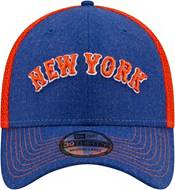 New Era Men's New York Mets Blue 39Thirty Heathered Stretch Fit Hat product image