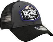New Era Men's Baltimore Ravens 2021 NFL Draft 9Forty Graphite Adjustable Hat product image