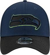 New Era Men's Seattle Seahawks Sideline 2021 Road 39Thirty Navy Stretch Fit Hat product image