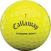 Callaway 2020 Chrome Soft Triple Track Yellow Personalized Golf Balls product image
