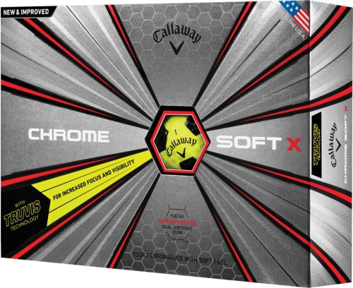 8425206e5f1 Callaway 2018 Chrome Soft X Truvis Yellow Golf Balls