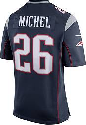 Nike Men's New England Patriots Sony Michel #26 Navy Game Jersey product image