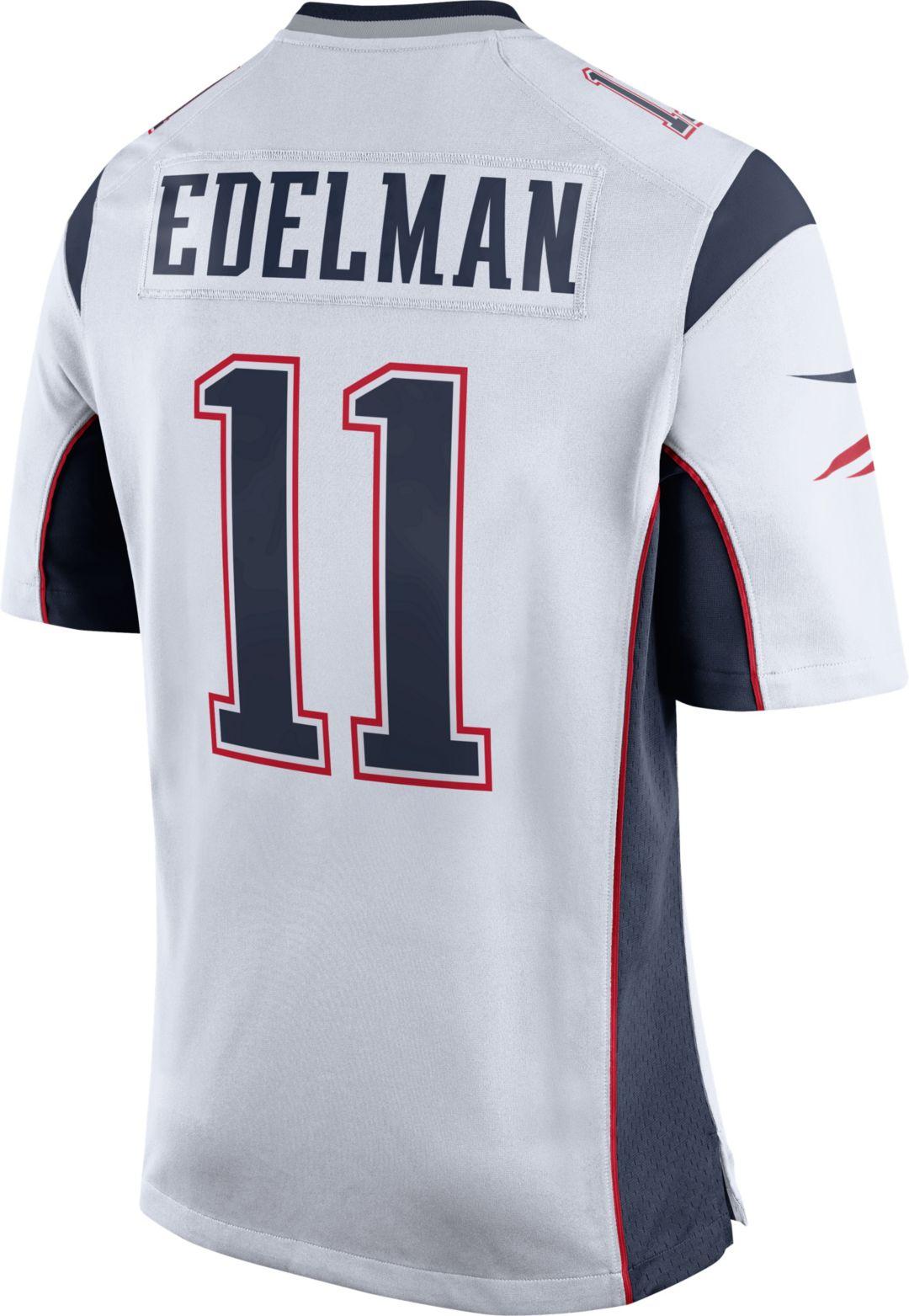 10b023fe Nike Men's Away Game Jersey New England Patriots Julian Edelman #11
