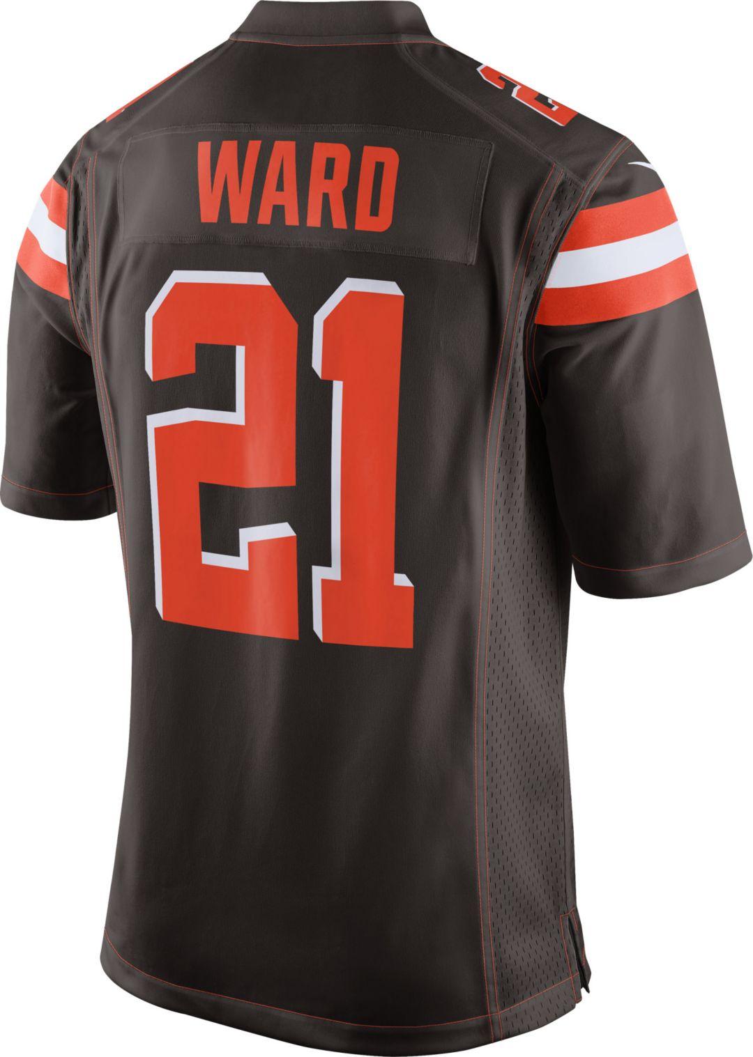 a1354317 Denzel Ward Nike Men's Cleveland Browns Home Game Jersey