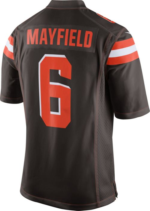 409c7f3e43eb8 Baker Mayfield  6 Nike Men s Cleveland Browns Home Game Jersey.  noImageFound. Previous. 1. 2. 3