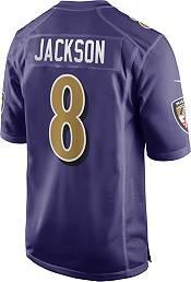 Nike Men's Baltimore Ravens Lamar Jackson #8 Purple Game Jersey product image