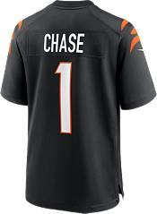 Nike Men's Cincinnati Bengals Ja'Marr Chase #1 Black Game Jersey product image