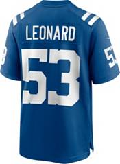 Nike Men's Indianapolis Colts Darius Leonard #53 Blue Game Jersey product image