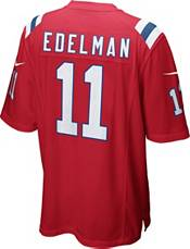 Nike Men's New England Patriots Julian Edelman #11 Red Game Jersey product image