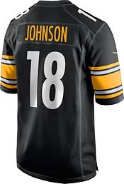 Nike Men's Pittsburgh Steelers Diontae Johnson #18 Black Game Jersey product image
