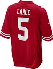 Nike Men's San Francisco 49ers Trey Lance #5 Red Game Jersey product image