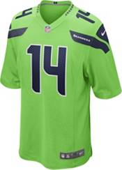 Nike Men's Seattle Seahawks D.K. Metcalf #14 Turbo Green Game Jersey product image