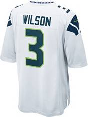 Nike Men's Seattle Seahawks Russell Wilson #3 White Game Jersey product image