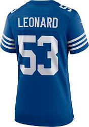 Nike Women's Indianapolis Colts Darius Leonard #53 Alternate Blue Game Jersey product image
