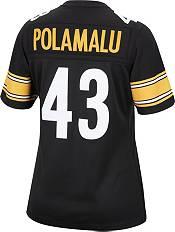 Mitchell & Ness Women's Pittsburgh Steelers Troy Polamalu #43 Black 2005 Home Jersey product image
