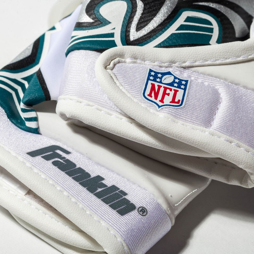 online store be7cc 706d3 Franklin Philadelphia Eagles Team Logo Receiver Gloves
