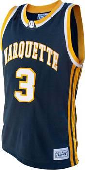 Original Retro Brand Men's Marquette Golden Eagles Dwayne Wade #3 Blue Replica Basketball Jersey product image
