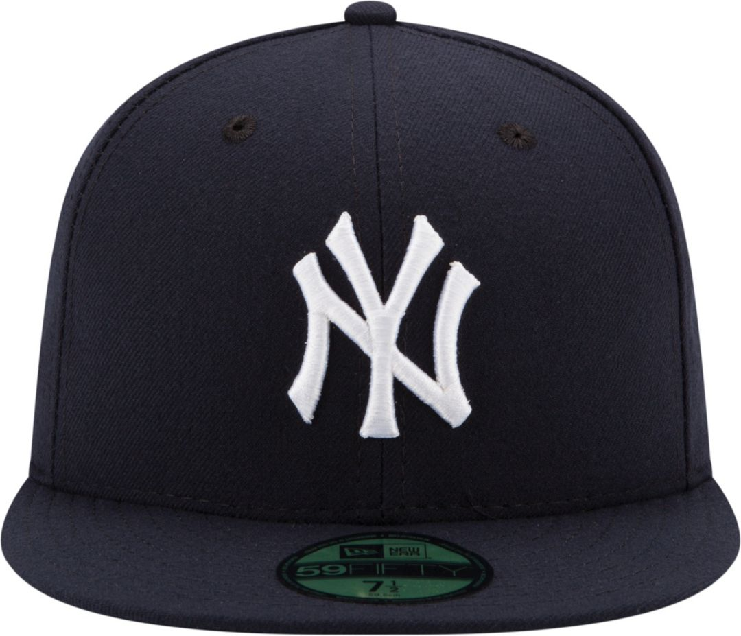 06cbfa2f8 New Era Men's New York Yankees 59Fifty Game Navy Authentic Hat