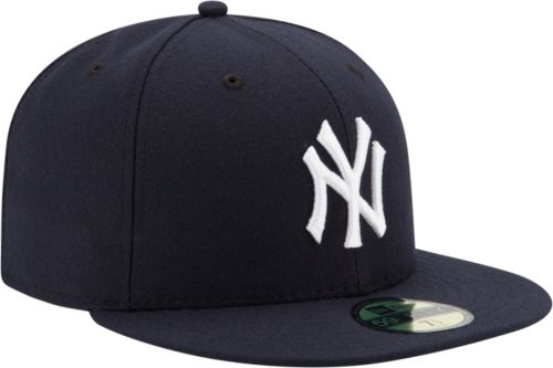 New Era Men s New York Yankees 59Fifty Game Navy Authentic Hat ... f171382e68b