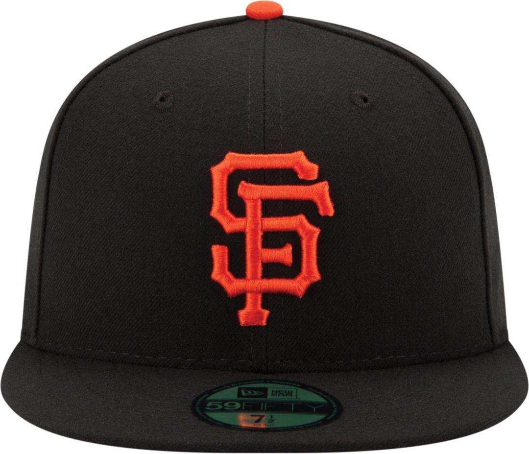 brand new 7c17c ebaaa New Era Men s San Francisco Giants 59Fifty Game Black Authentic Hat 2