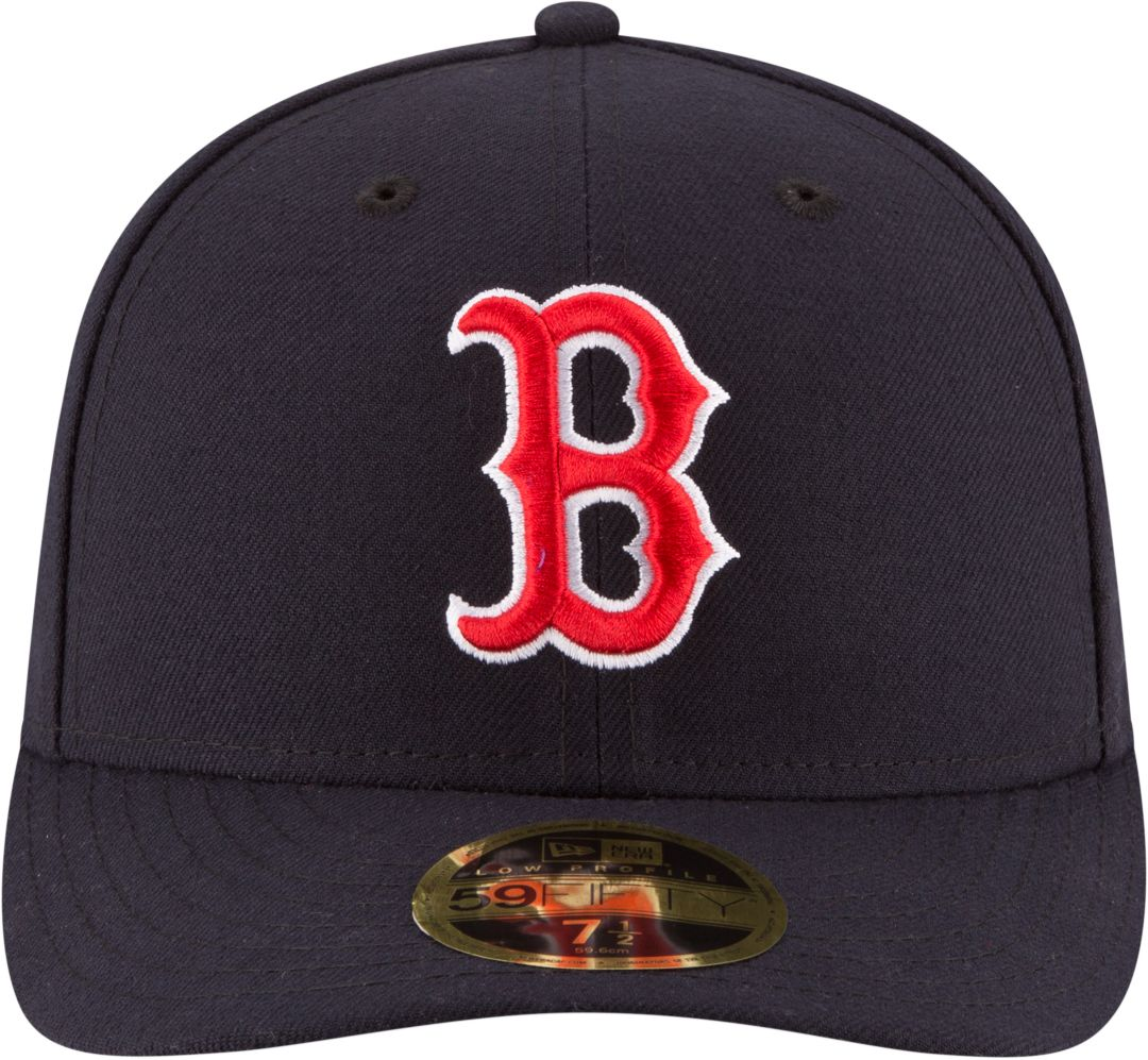 da66cc7be New Era Men's Boston Red Sox 59Fifty Game Navy Low Crown Authentic Hat