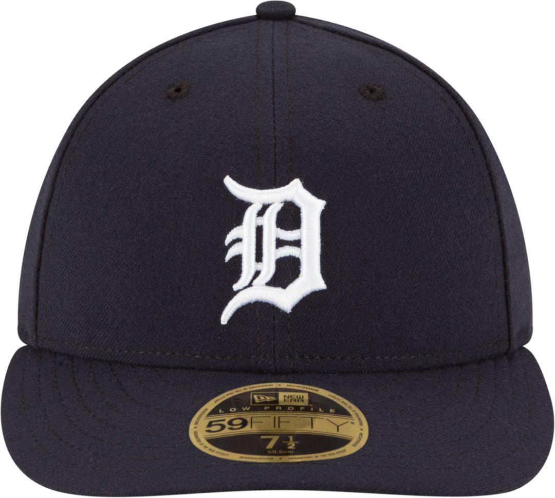 factory authentic 7cf8c 8f964 New Era Men s Detroit Tigers 59Fifty Home Navy Low Crown Authentic Hat.  noImageFound. Previous. 1. 2