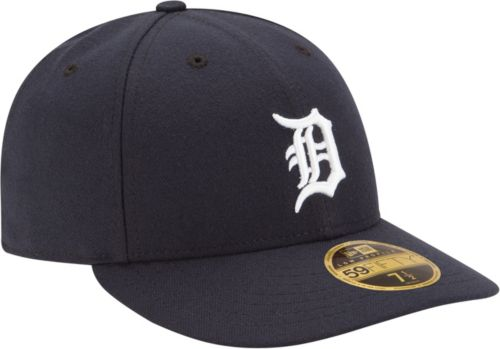 e9ca640fc2e4f New Era Men s Detroit Tigers 59Fifty Home Navy Low Crown Authentic Hat.  noImageFound. Previous. 1. 2. 3
