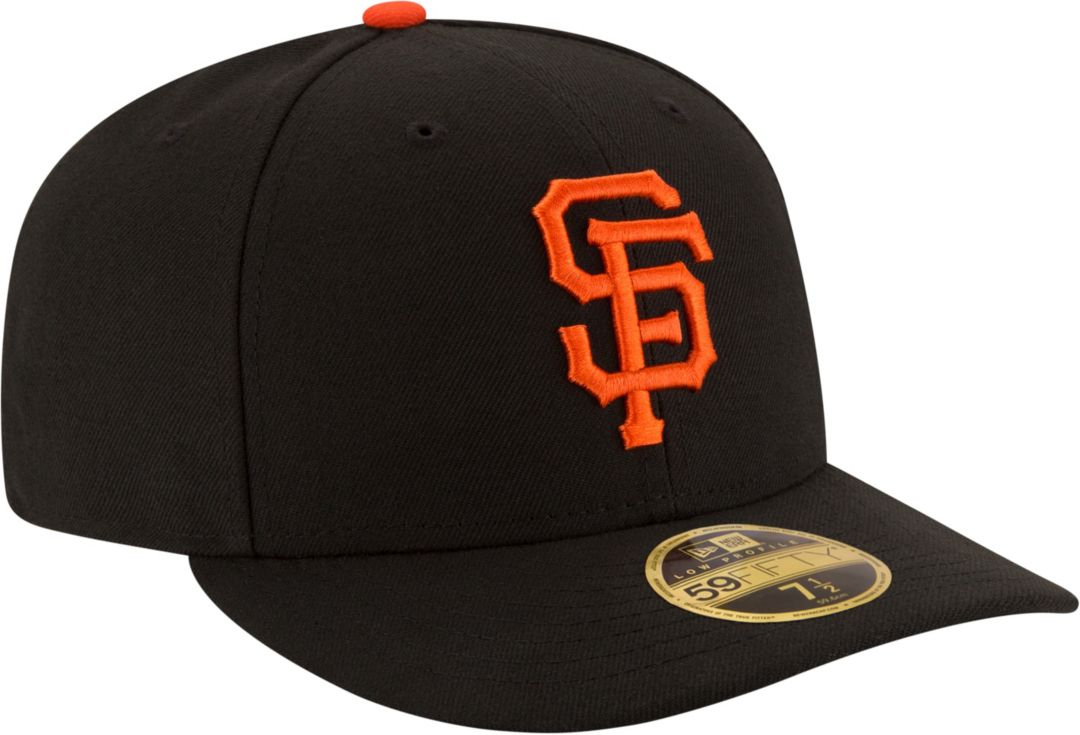 ca1a1bc5 New Era Men's San Francisco Giants 59Fifty Game Black Low Crown Authentic  Hat
