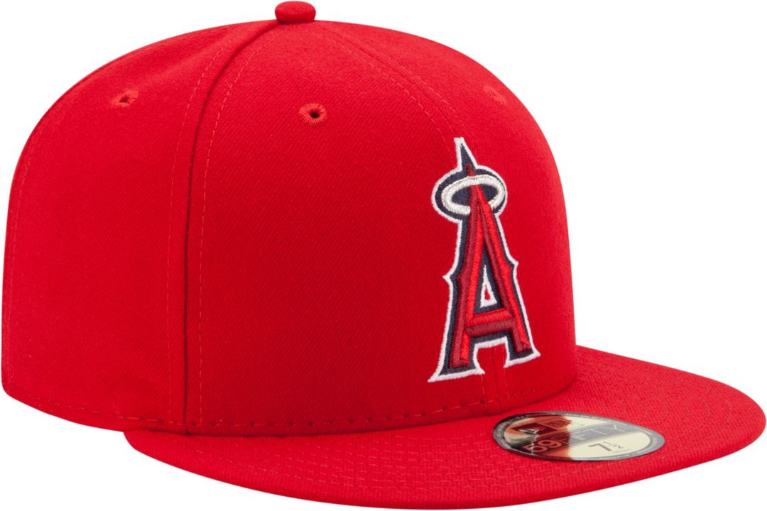 14784f524 New Era Men's Los Angeles Angels 59Fifty Game Red Authentic Hat