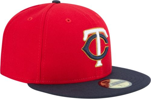 online retailer a6936 3680b New Era Men s Minnesota Twins 59Fifty Alternate Red Authentic Hat.  noImageFound. Previous. 1. 2. 3