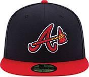 New Era Men's Atlanta Braves 59Fifty Road Navy Authentic Hat product image