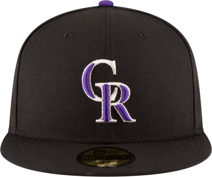 premium selection 97276 75d50 New Era Men s Colorado Rockies 59Fifty Game Black Authentic Hat 2
