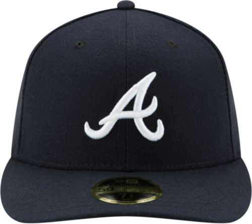 cheap for discount ad09b c9668 ... low price new era mens atlanta braves 59fifty road navy low crown  fitted hat aecf8 dc519