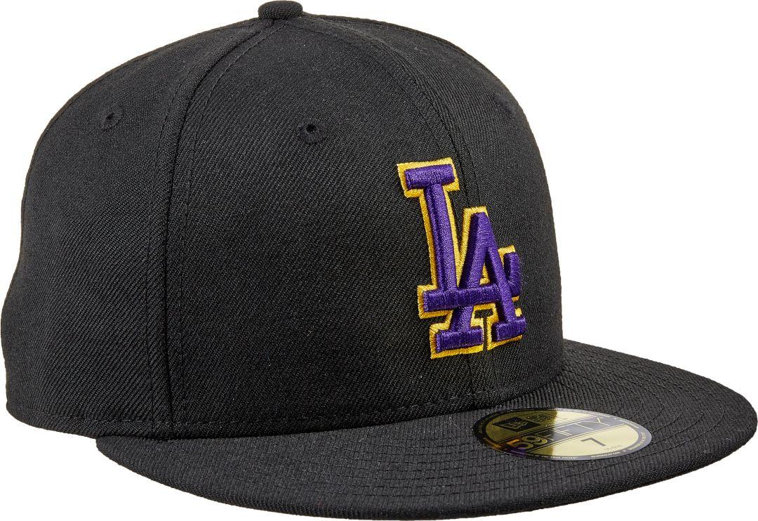 65c05c9c New Era Men's Los Angeles Dodgers 59Fifty City Pride Black/Purple Fitted Hat